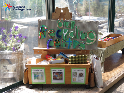 Kindergarten recycling art