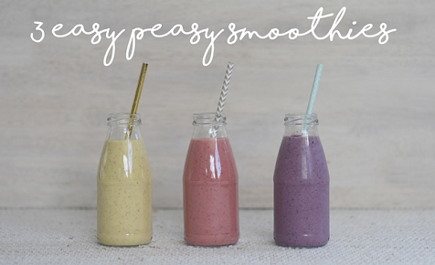 3 easy toddler smoothies