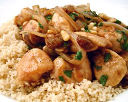 Easy moroccan chicken with couscous