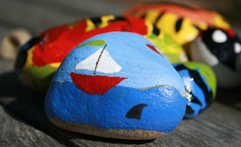 Painted rock hunting